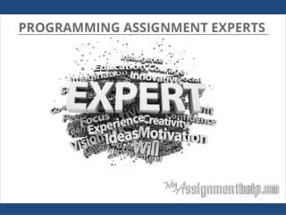 Programming Assignment Experts online