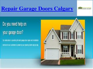 Effective Garage Door Parts Calgary