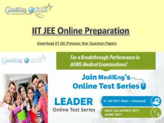 IIT JEE Previous Year Question Papers