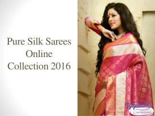 Pure Silk Saree Collection with Price 2016 - Vijayalakshmi Silks and Sarees