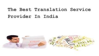 The Best Translation Service Provider In India