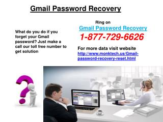 How To Reset Gmail Password? Call On 1-877-729-6626 Reset Gmail Password