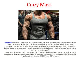 Boost Up Your Muscle Mass With Crazy Mass