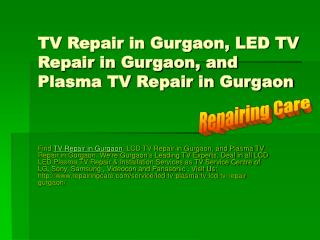TV Repair in Gurgaon | LCD TV Repair in Gurgaon | LED TV Repair in Gurgaon
