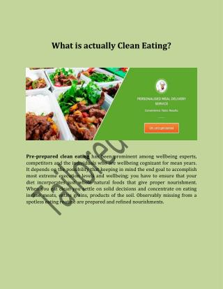 What is actually Clean Eating?