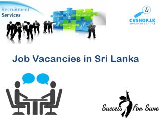 Find and Post Job Vacancies in Sri Lanka Online