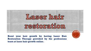 Laser treatment for hair growth