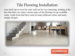 Various Styles of Tile Flooring in india