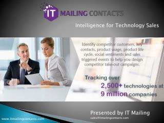 IT Mailing Contacts - Technology Users Email Lists