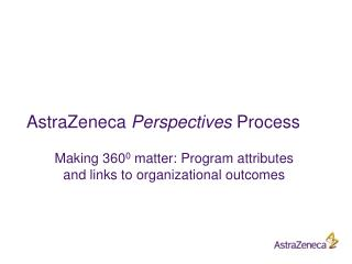 AstraZeneca  Perspectives  Process