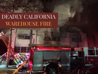 Deadly California warehouse fire