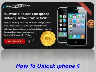 How To Unlock Iphone 4