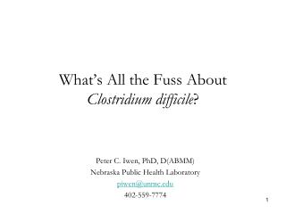 What's All the Fuss About  Clostridium difficile ?