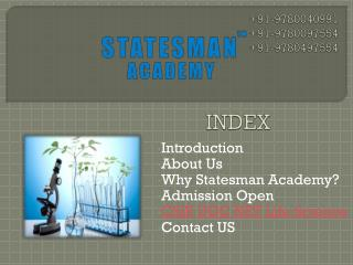 Statesman Academy For CSIR Ugc Net Life Science Coaching in Chandigarh