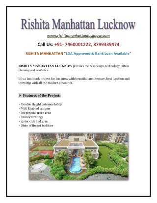 Rishita Manhattan Lucknow - Best Real Estate Services