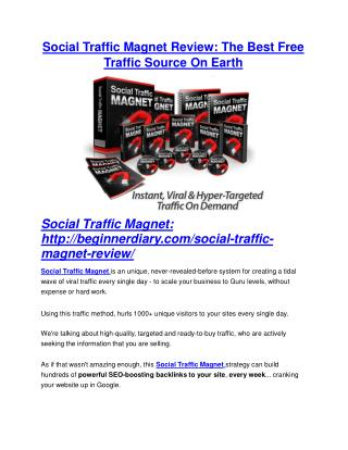 Social Traffic Magnet review demo and premium bonus