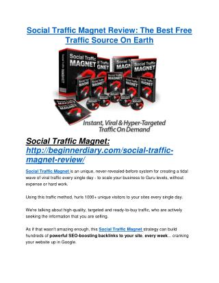 Social Traffic Magnet review and sneak peek demo