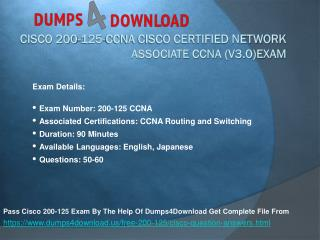 Get Verified CCNA 200-125 Exam Dumps Questions & Answers