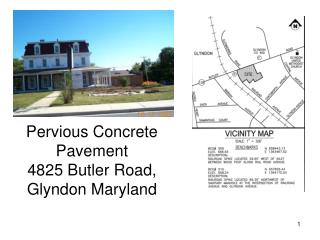 Pervious Concrete Pavement 4825 Butler Road, Glyndon Maryland