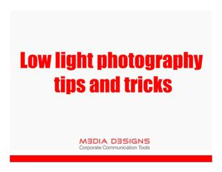 Low light photography tips and tricks - Media Designs