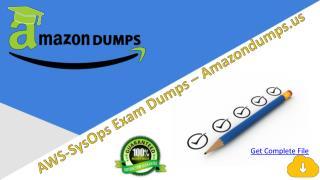 Verified AWS SysOps Exam Engine Question   Amazondumps.us