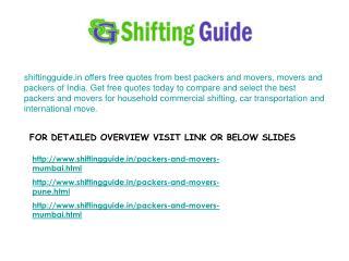 Shifting of Homes @ shiftingguide.in