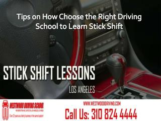 Learn Stick Shift Lessons from Right Driving School