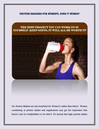 Protein shakers for women