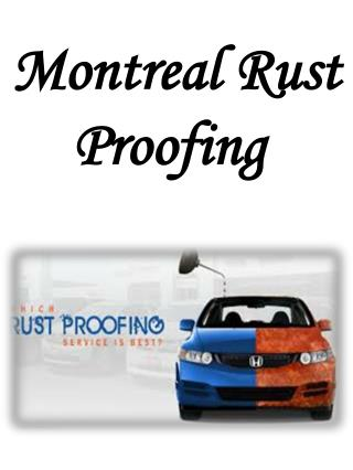 Montreal Rust Proofing