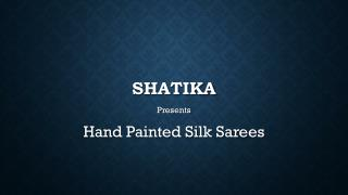Hand Painted Silk Sarees Online