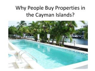 Why People Buy Properties in the Cayman Islands?