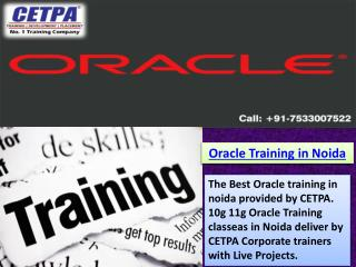 Oracle Training in Noida