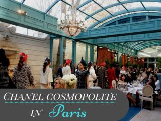Chanel cosmopolite in Paris