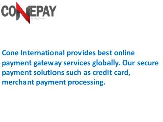 Best Online Payment Gateway Solutions through ConePay