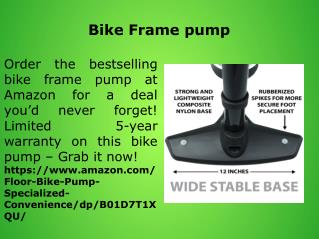 Bike Frame pump