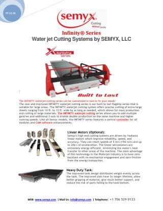 Water jet Cutting Systems by SEMYX, LLC