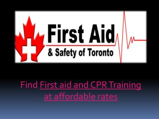 Find best academy for first aid and CPR training