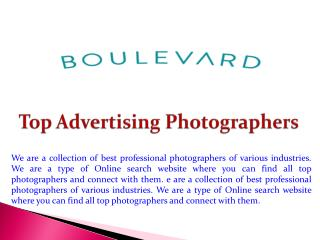 Top Advertising Photographers