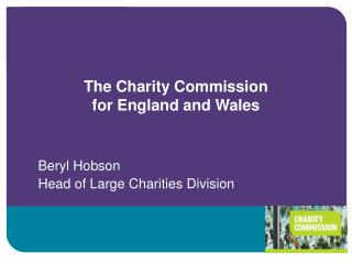 The Charity Commission  for England and Wales