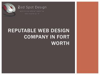 Reputable Web Design Company in Fort Worth
