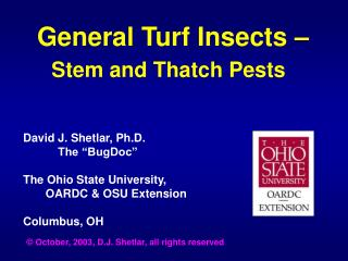 General Turf Insects – Stem and Thatch Pests