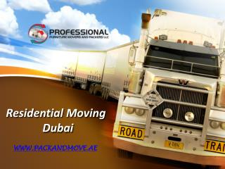 Residential Moving Services Dubai