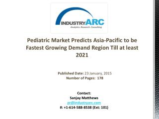 Pediatric Market: Key Players Focused On Making Pediatric Health Services Cheaper