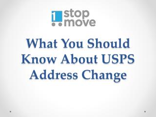 What You Should Know About USPS Address Change
