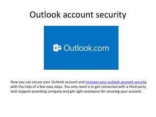 Increase Outlook account security