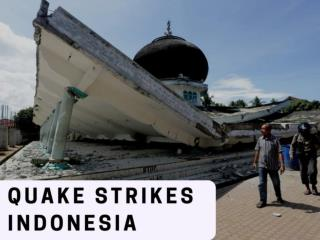 Quake strikes Indonesia