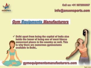 Get Online Service with Gym Equipment manufacturers in Delhi