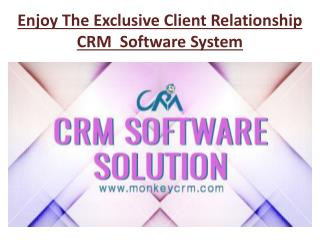 Enjoy The Exclusive Client Relationship CRM  Software System