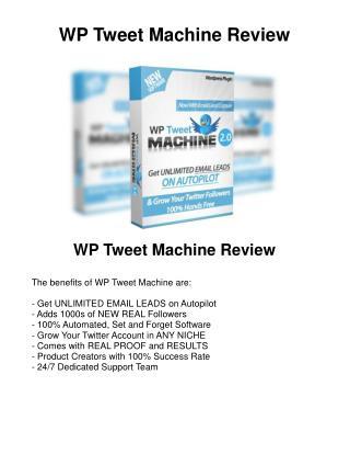 WP Tweet Machine Reviews