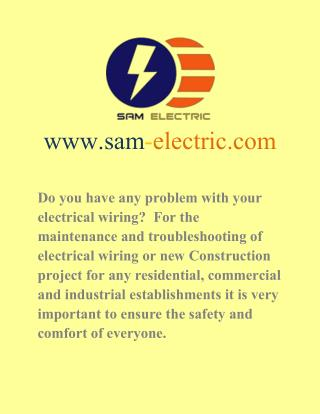 Electrical Contractors and Electricians in Newmarket, Thornhill, Richmond Hill, Scarborough, Toronto